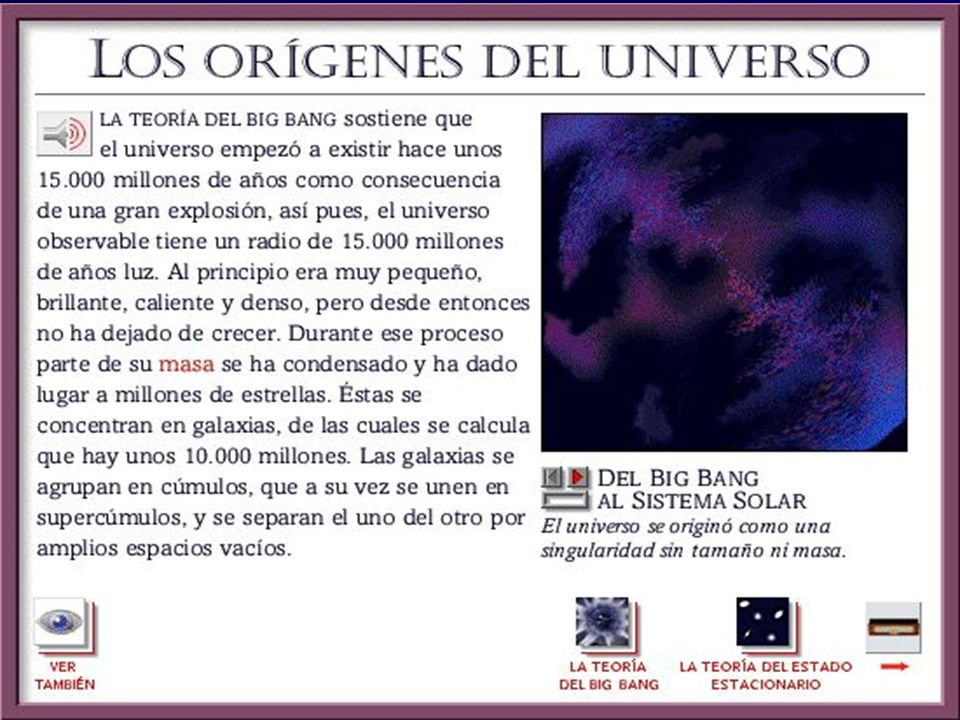 DETECCIÓN DE LA RADIACIÓN DE FONDO Descubierta en 1965 por casualidad por Wilson y Penzias, que trabajaban para la misma compañía de teléfono que Jansky Enorme apoyo para el modelo del Big Bang