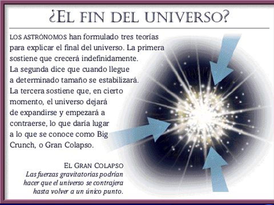 ¿COMO ES EL UNIVERSO EN QUE VIVIMOS? Principio Cosmológico: El Universo es homogéneo e isótropo ….a escalas grandes Y puede ser plano, abierto o cerra