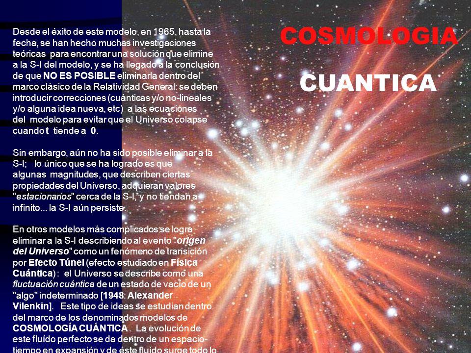 Si la extrapolación hacia el pasado es correcta, hace mucho tiempo atrás todas las galaxias estaban muy cerca una de la otra.