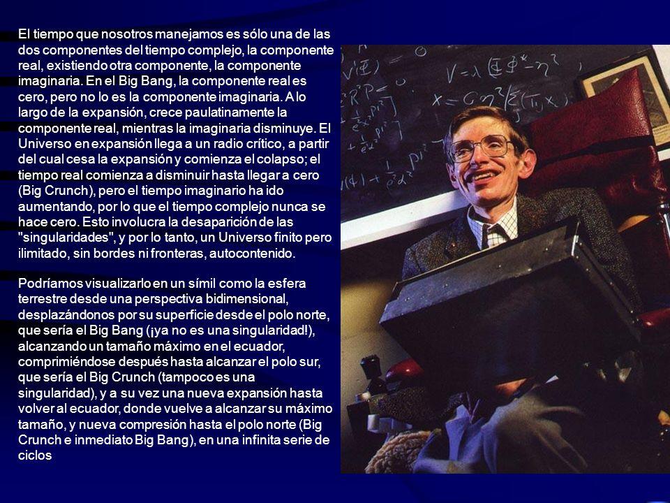 LA AUSENCIA DE LIMITES Centrándonos en nuestro Universo, y siguiendo la Teoría de la Ausencia de Límites, de Stephen Hawking y Jim Hartle, estamos en un Universo oscilante, esto es, en un Universo sujeto a una sucesión interminable de expansiones y contracciones, pero con una notable, muy notable, particularidad.