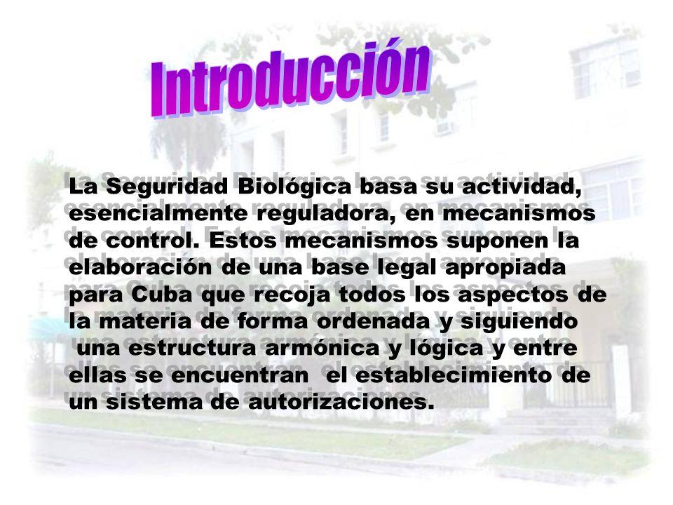 Dr. Miguel Lorenzo Hernández MSc. Departamento de Autorizaciones Centro Nacional de Seguridad Biológica La Habana, Cuba E mail cnsb_99@yahoo.com cnsb_