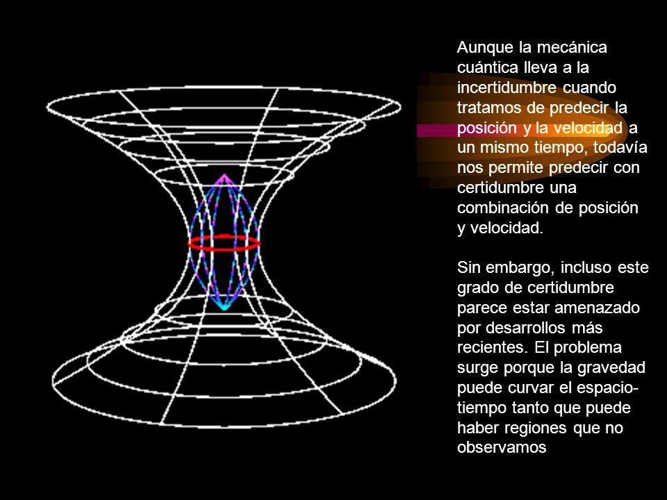Aunque la mecánica cuántica lleva a la incertidumbre cuando tratamos de predecir la posición y la velocidad a un mismo tiempo, todavía nos permite pre
