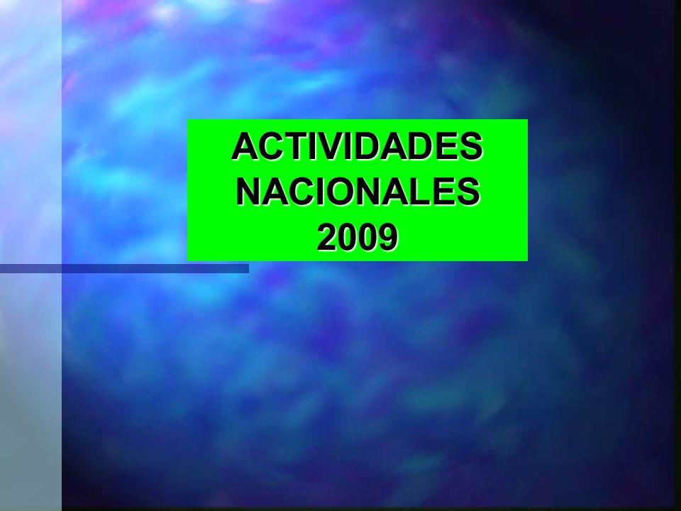 ACTIVIDADES NACIONALES 2009