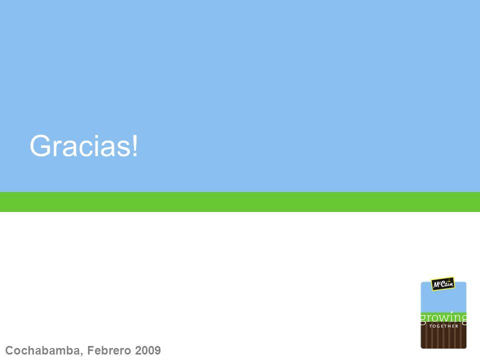 Gracias! Cochabamba, Febrero 2009