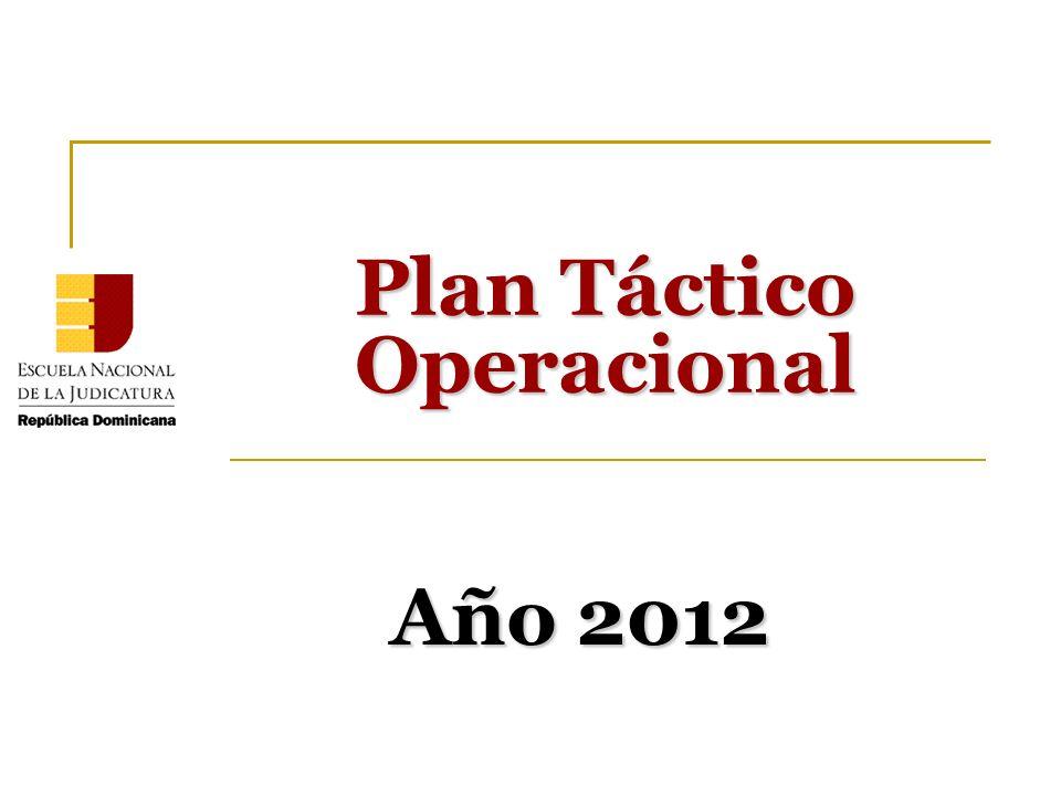 Año 2012 Plan Táctico Operacional