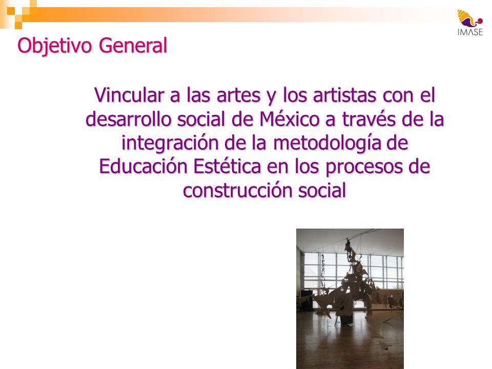 Vincular a las artes y los artistas con el desarrollo social de México a través de la integración de la metodología de Educación Estética en los proce