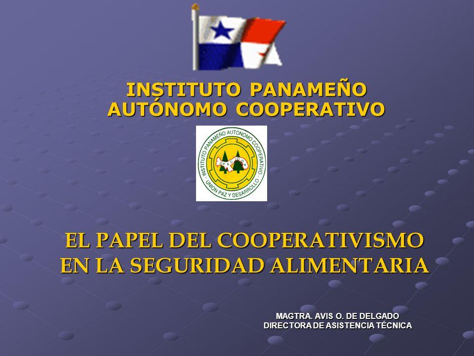 EL PAPEL DEL COOPERATIVISMO EN LA SEGURIDAD ALIMENTARIA EL PAPEL DEL COOPERATIVISMO EN LA SEGURIDAD ALIMENTARIA MAGTRA. AVIS O. DE DELGADO DIRECTORA D