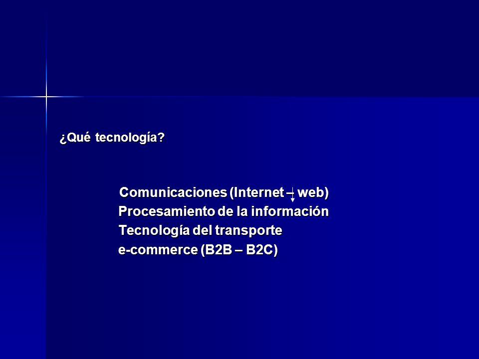¿Qué tecnología? Comunicaciones (Internet – web) Comunicaciones (Internet – web) Procesamiento de la información Procesamiento de la información Tecno