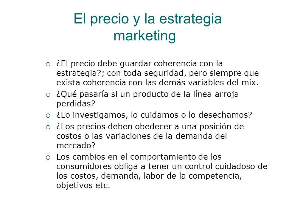 El precio y la estrategia marketing ¿El precio debe guardar coherencia con la estrategia?; con toda seguridad, pero siempre que exista coherencia con