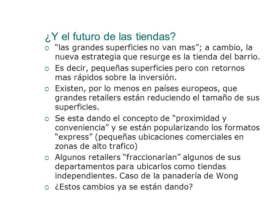 ¿Y el futuro de las tiendas? las grandes superficies no van mas; a cambio, la nueva estrategia que resurge es la tienda del barrio. Es decir, pequeñas