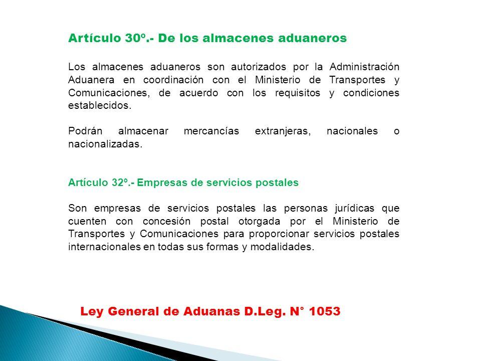 Ley General de Aduanas D.Leg.