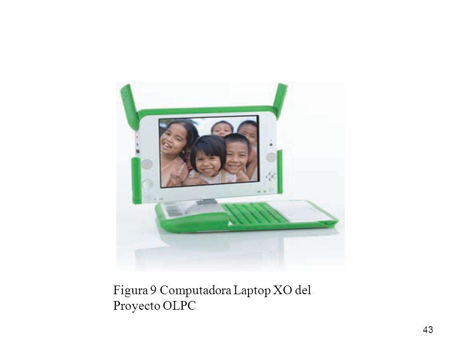 43 Figura 9 Computadora Laptop XO del Proyecto OLPC
