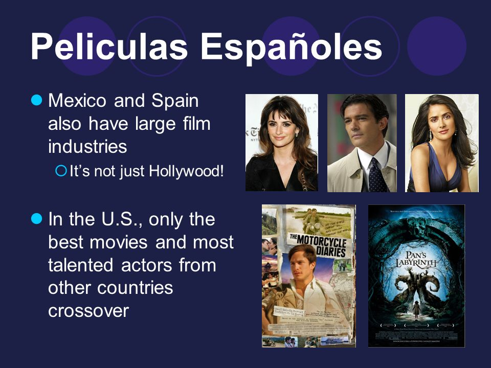 Peliculas Españoles Mexico and Spain also have large film industries Its not just Hollywood.