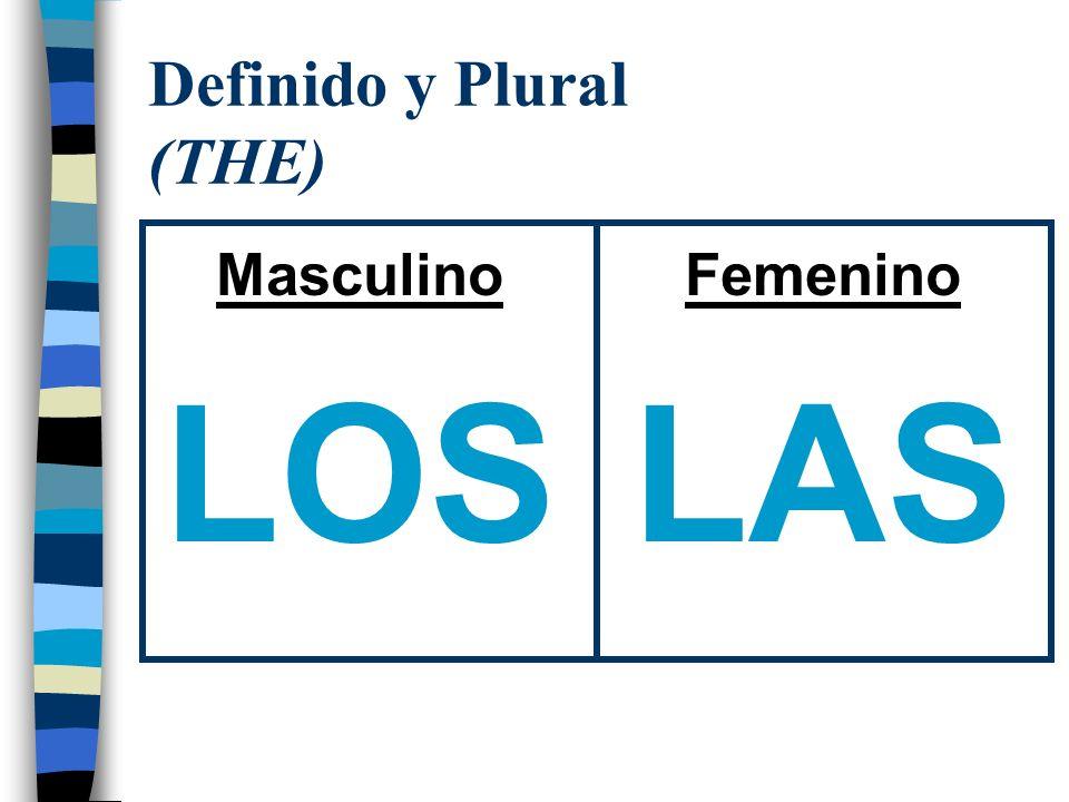 Indefinido y Singular (A or AN) Masculino UN Femenino UNA