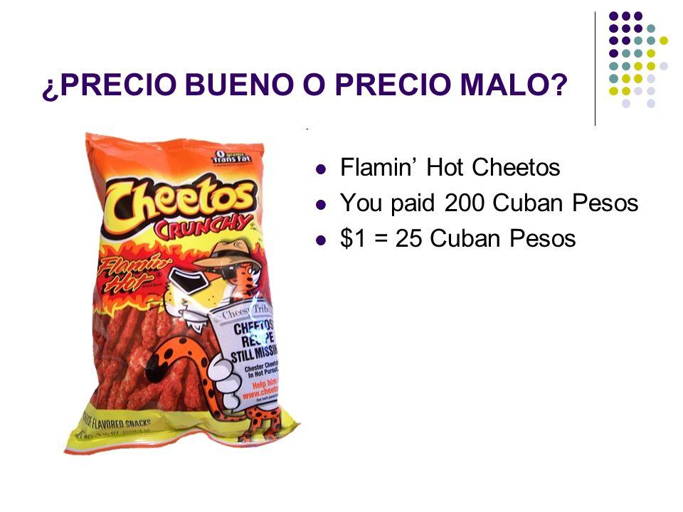 Flamin Hot Cheetos You paid 200 Cuban Pesos $1 = 25 Cuban Pesos ¿PRECIO BUENO O PRECIO MALO?