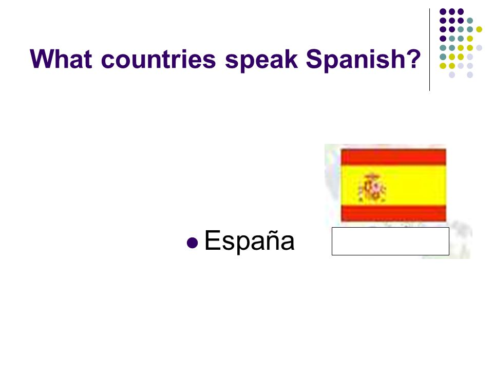 What countries speak Spanish España
