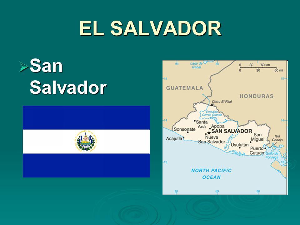 EL SALVADOR San Salvador San Salvador