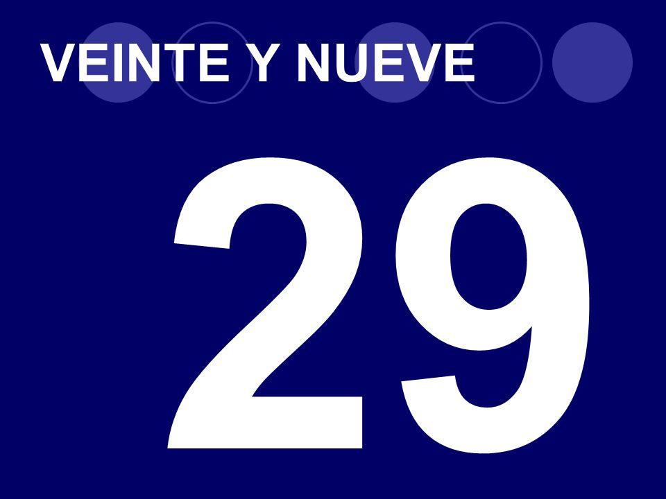 VEINTE Y NUEVE 29