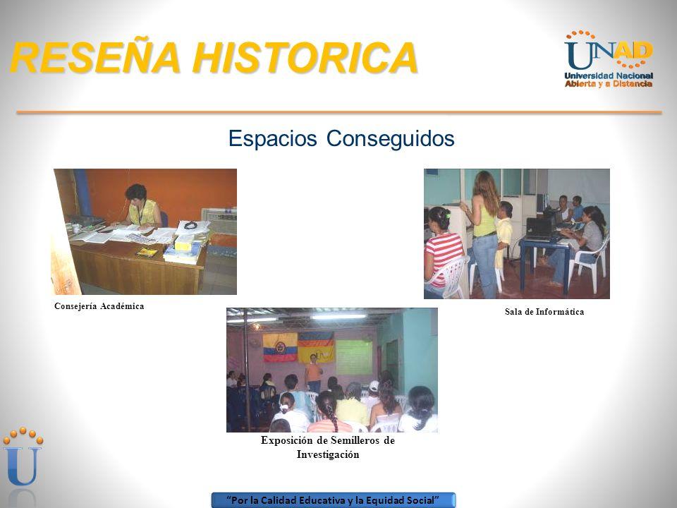 Por la Calidad Educativa y la Equidad Social RESEÑA HISTORICA ANDRES FELIPE GALLEGO GOMEZ, (1998-2003) tomó la administración directiva del Centro Reg