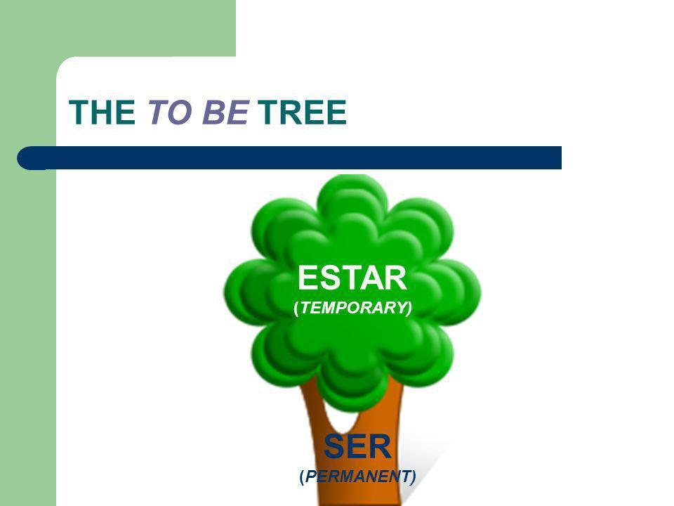 THE TO BE TREE ESTAR (TEMPORARY) SER (PERMANENT)