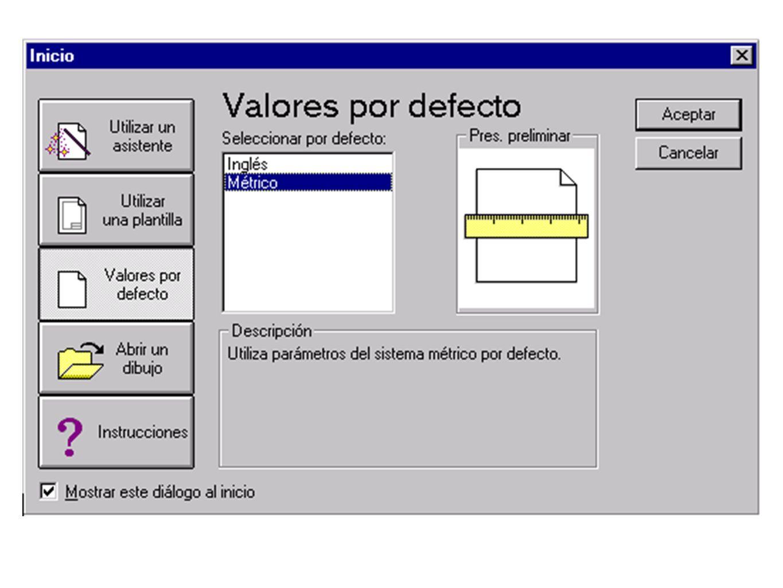 El Asistente configuración rápida Con el asistente Configuración rápida, se establecen los parámetros básicos que ayudan a definir las unidades de medida y el área del dibujo.
