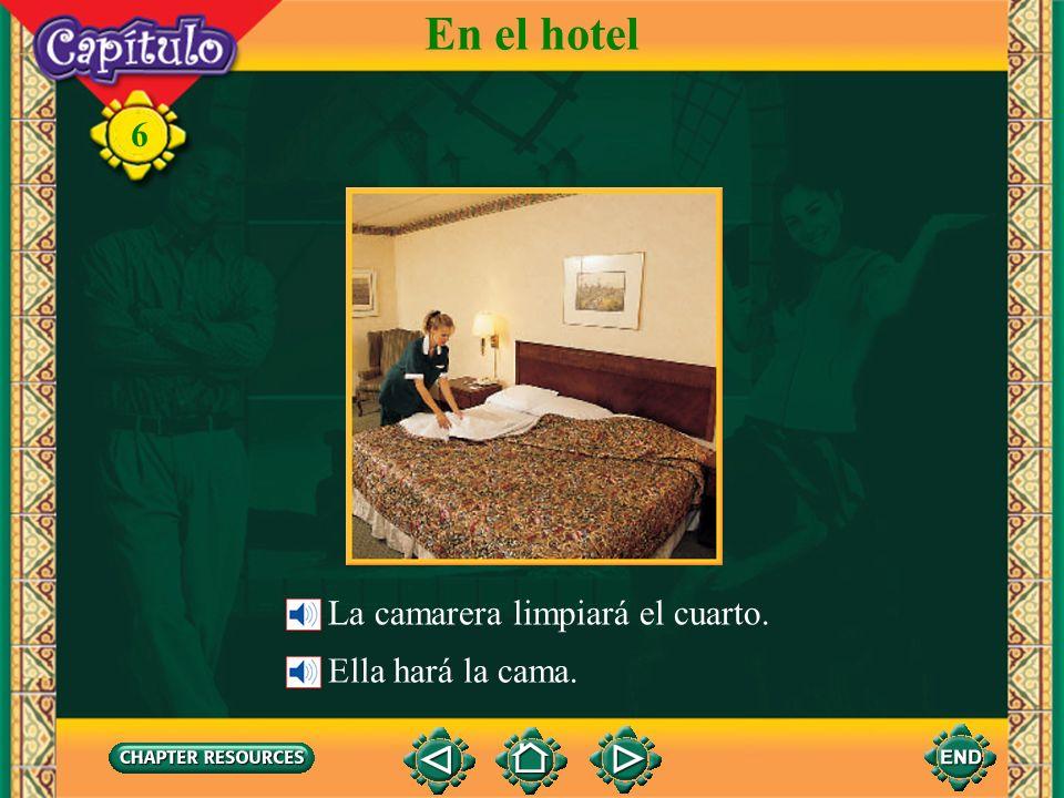 6 En el hotel En el baño la ducha el jabón el inodoro, el váter la toalla el lavabo la bañera