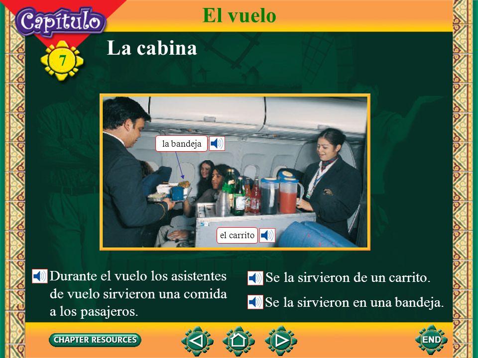 7 la pistarunway Describing some things at an airport Vocabulario El vuelo la terminal de pasajerospassenger terminal la torre de controlcontrol tower (English-Spanish)