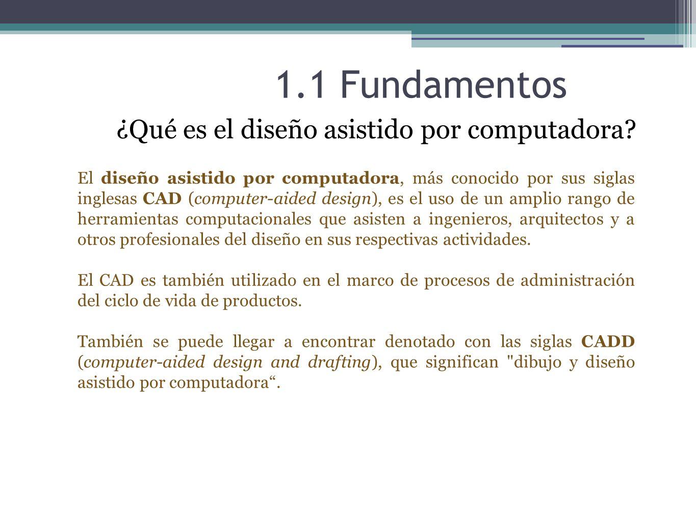 1.1 Fundamentos ¿Qué es AutoCAD.