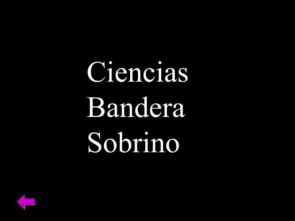 Ciencias Bandera Sobrino