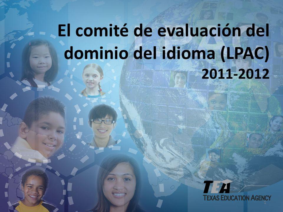 1 El comité de evaluación del dominio del idioma (LPAC) 2011-2012