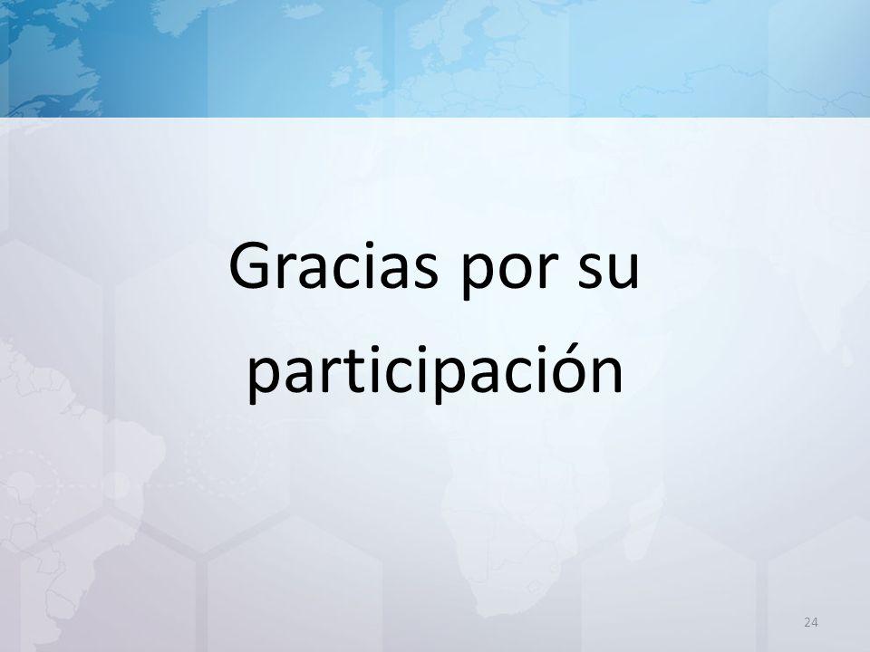 Gracias por su participación 24