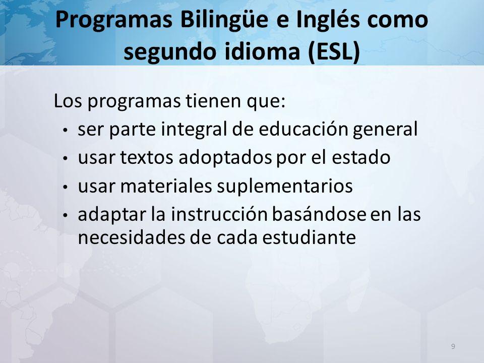 Comité de evaluación del dominio del idioma (LPAC) El estudiante puede ser reclasificado cuando ha cumplido los requisitos esperados en le programa Esto es posible únicamente al término del año escolar 20