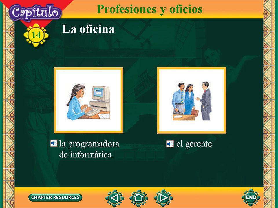 14 La oficina Profesiones y oficios el secretario la contable