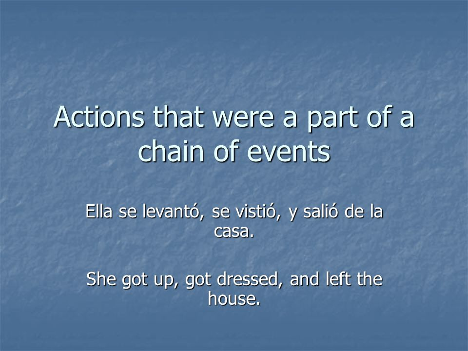 For verbs that end in AER, EER, OIR, and OER, the él,/ella/usted form uses the ending yó (rather than ió).