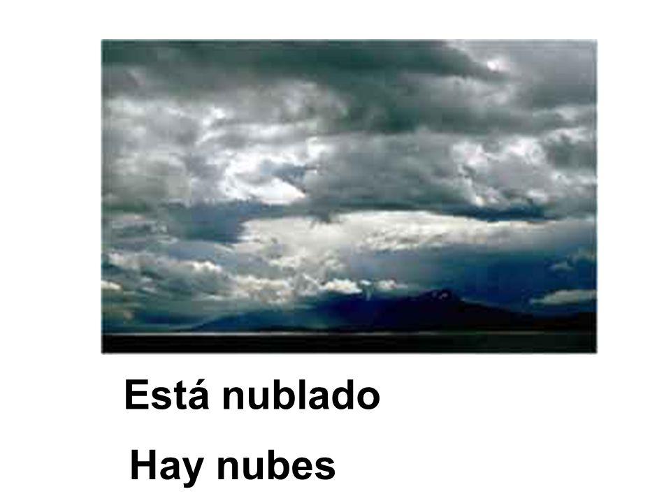Está nublado Hay nubes