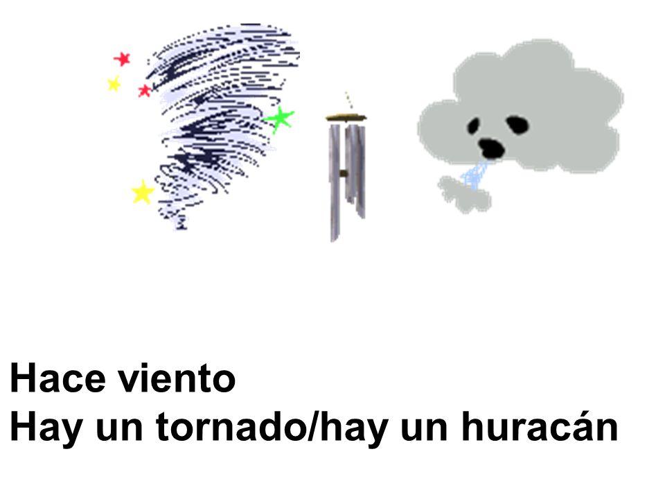 Hace viento Hay un tornado/hay un huracán