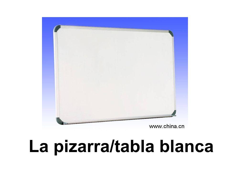 La pizarra/tabla blanca