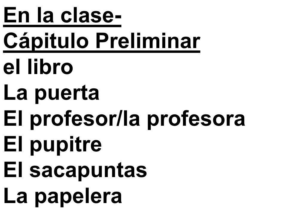 la sala de clases