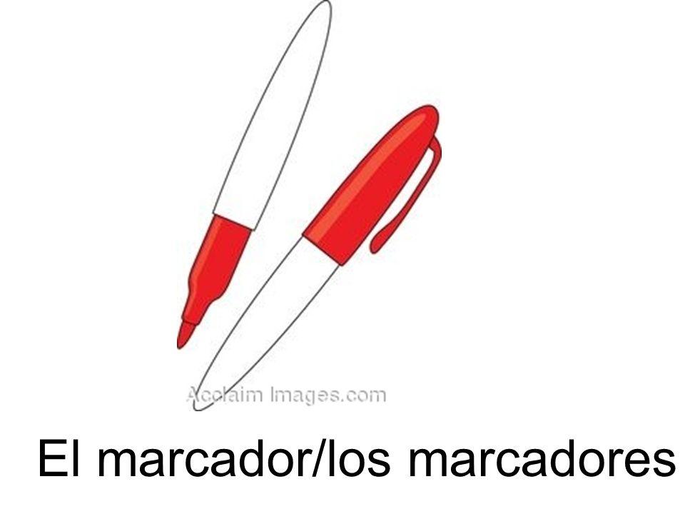 El marcador/los marcadores