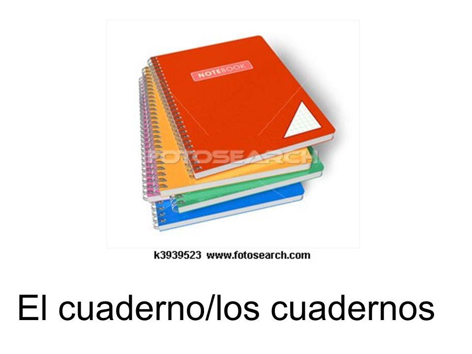 El cuaderno/los cuadernos