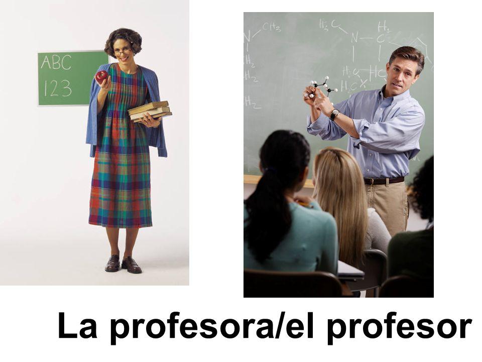 La profesora/el profesor