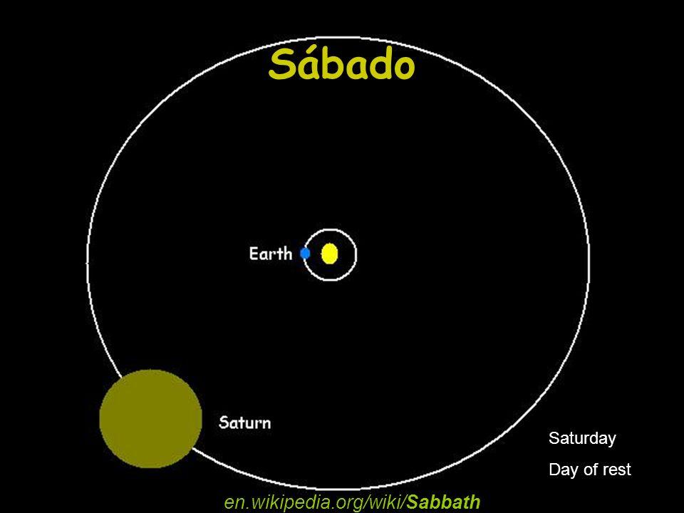 Sábado en.wikipedia.org/wiki/Sabbath Saturday Day of rest
