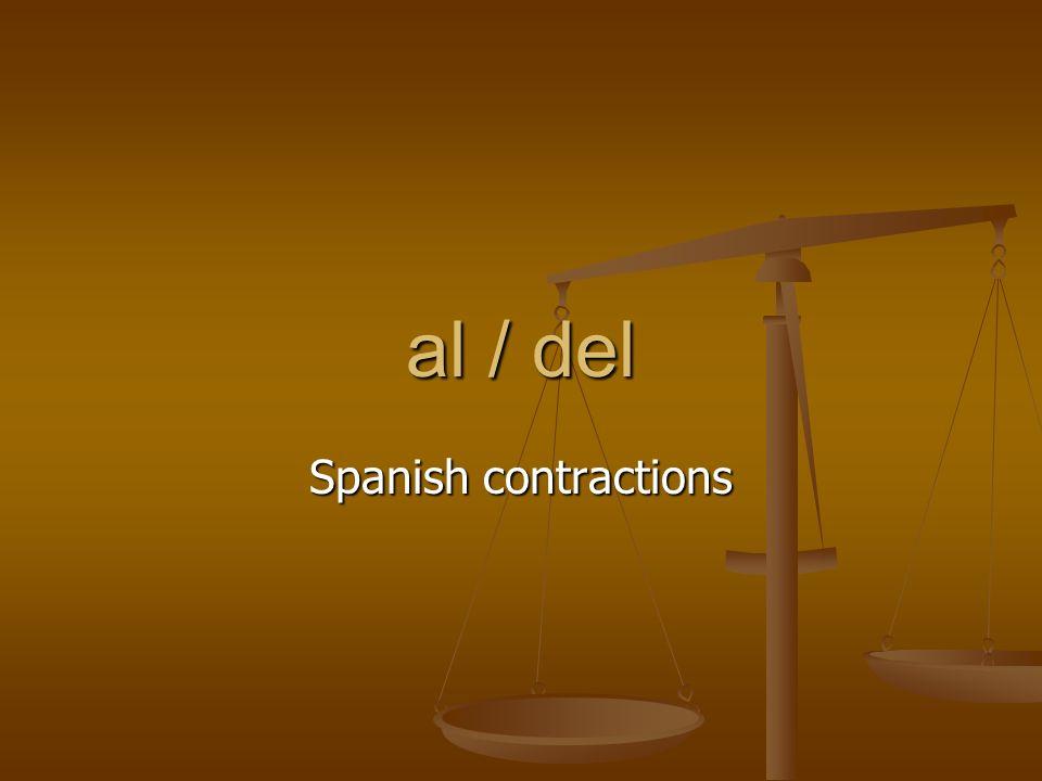 al / del Spanish contractions