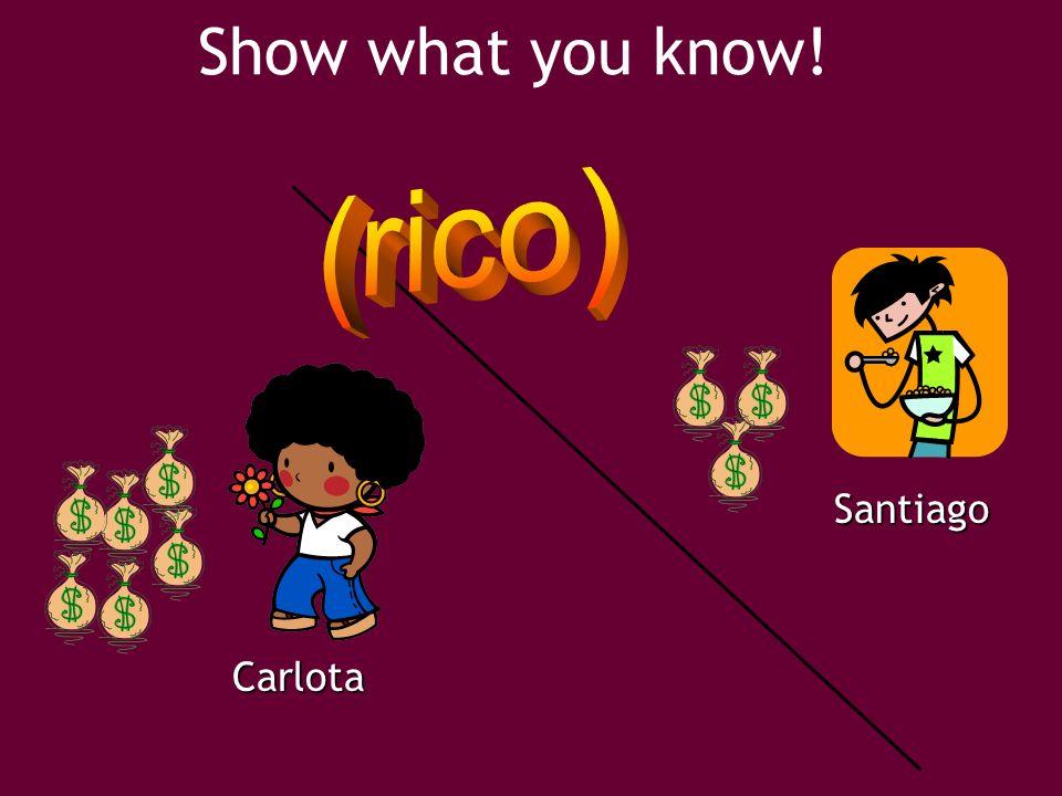 Show what you know!Carlota Santiago