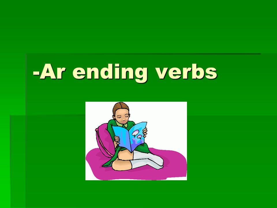 -Ar ending verbs