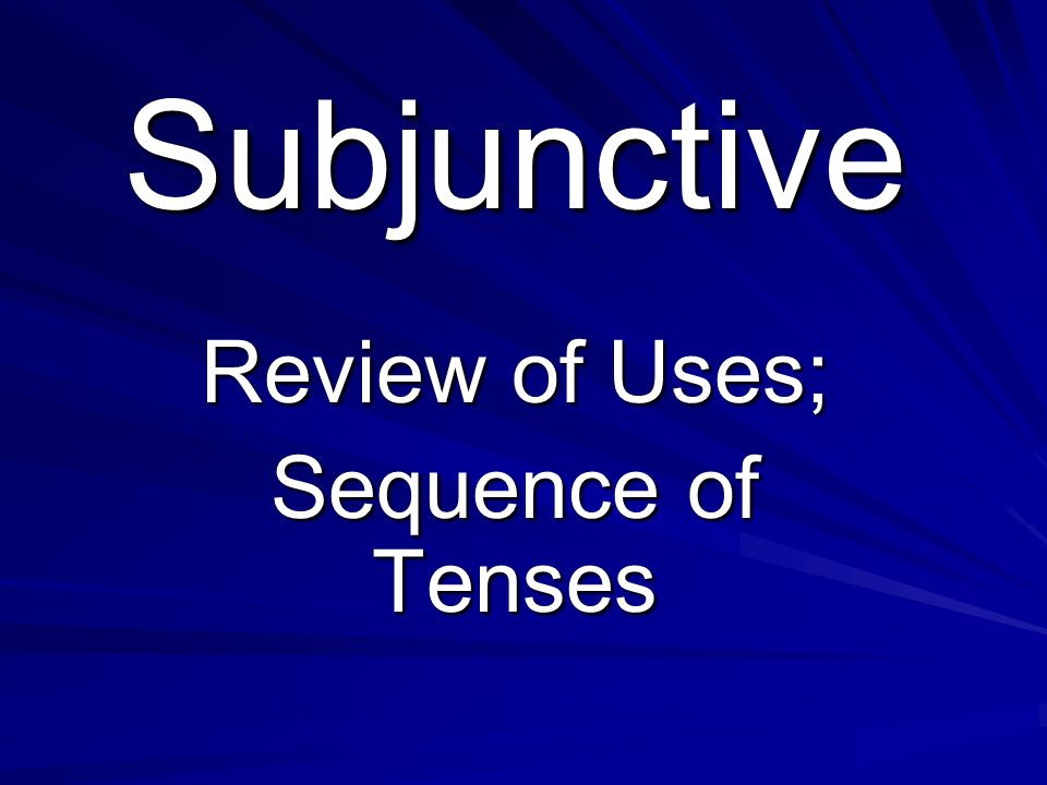 que + change subject + subjunctive Impersonal Expressions Emotion Wishes, preferences, Commands Adverbial Clauses 3 Ds Doubt/denial/ Disbelief Volition ) (Indirect commands) Indefinite Antecedent Si sentences