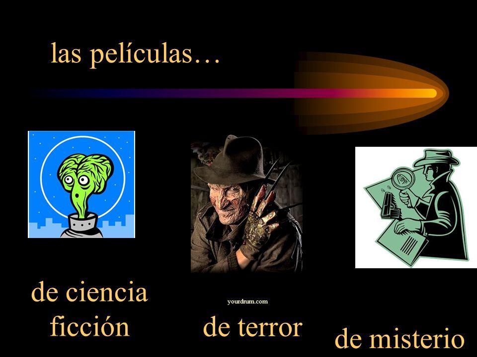 las películas… de ciencia ficciónde terror de misterio yourdrum.com