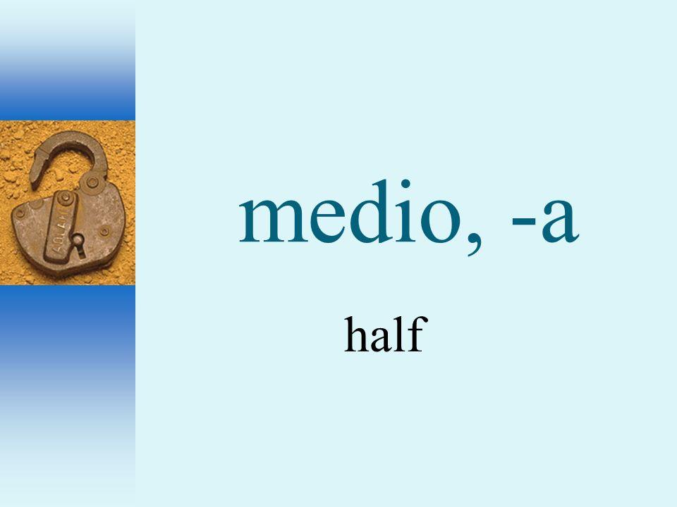 medio, -a half