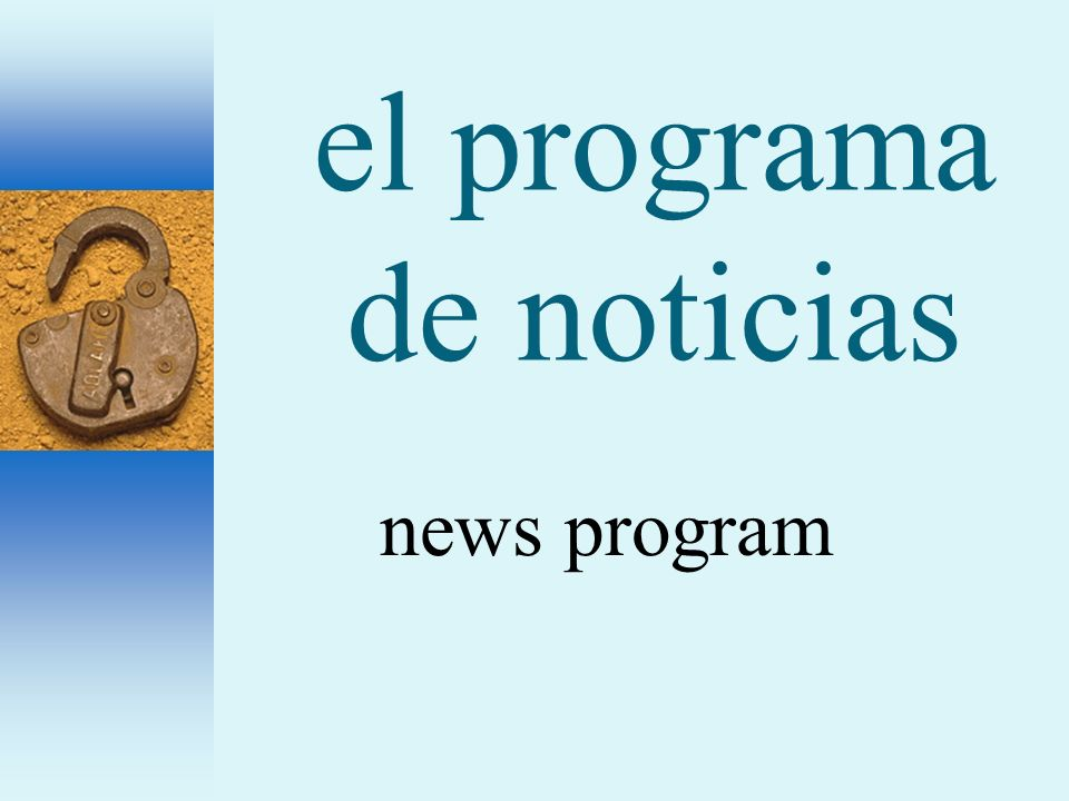 el programa de noticias news program