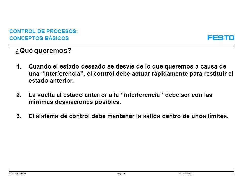 F-ES / dpto. / nombre11/03/2002 13:27proyecto35 REGULACIÓN: CONCEPTOS